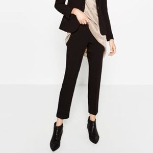 NEW ZARA Black Cotton Trousers